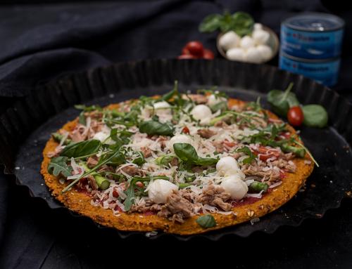 Süßkartoffel Thunfisch Pizza