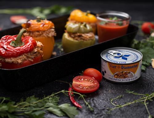 Gefüllte Paprika mit Thunfisch