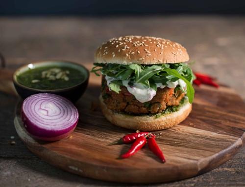 Thunfischburger mit Rucola & Koriander Pesto