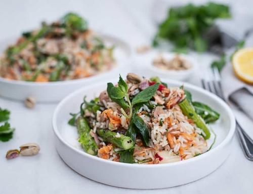 Thunfisch Reis Salat mit Spargel
