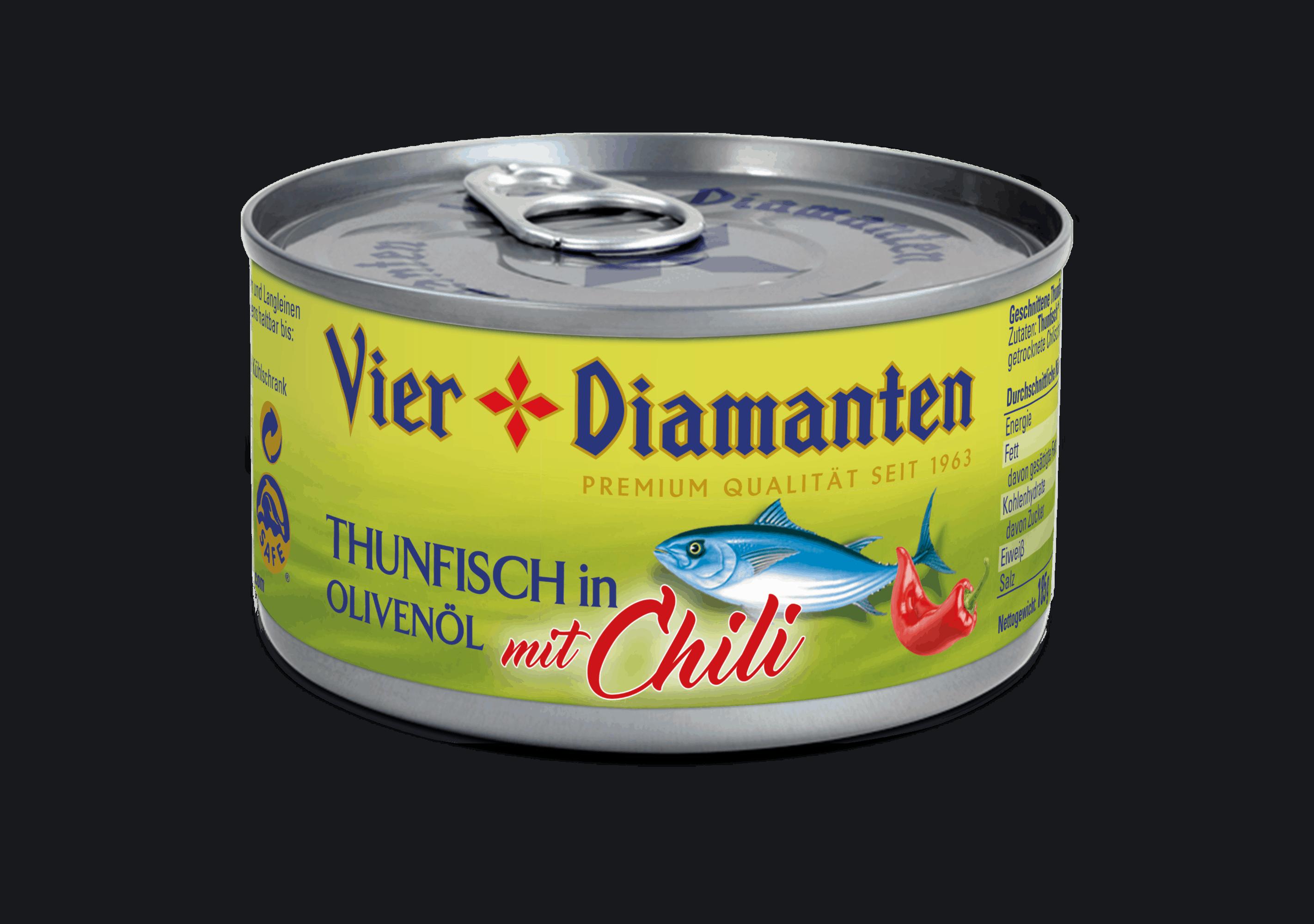 Vier-Diamanten-Thunfisch-in-Olivenöl-mit-Chilli